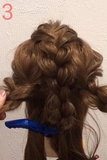 前髪が長い方におすすめ☆三つ編みだけでできる、手の込んだ編み込み風アレンジ3