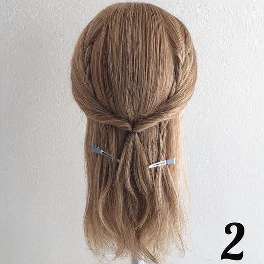チラ見えする三つ編みがポイント♡簡単ステップで女の子らしさ全開ローポニ―♪ 2