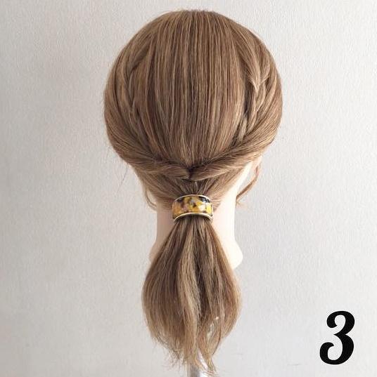 チラ見えする三つ編みがポイント♡簡単ステップで女の子らしさ全開ローポニ―♪ 3