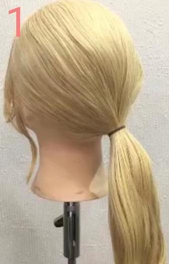 「髪の毛の量が少ない・・・」という方におすすめ☆上品さが魅力のギブソンタックアレンジ1