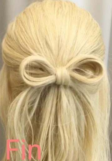 とことん目立ちたい!というときにオススメ♡自分の髪でリボンができちゃう、キュートアレンジtop
