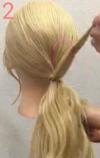 「髪の毛の量が少ない・・・」という方におすすめ☆上品さが魅力のギブソンタックアレンジ2
