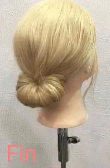 「髪の毛の量が少ない・・・」という方におすすめ☆上品さが魅力のギブソンタックアレンジtop