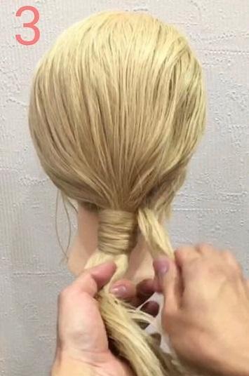 海外女子に人気のモードヘア♪ノットヘアーアレンジ3