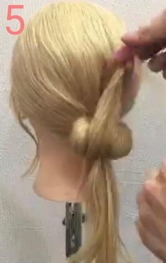 「髪の毛の量が少ない・・・」という方におすすめ☆上品さが魅力のギブソンタックアレンジ5