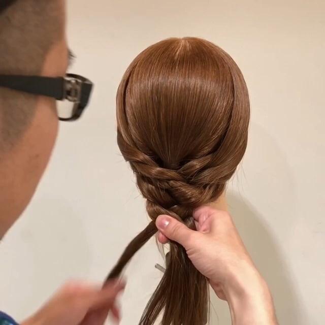 三つ編みさえできれば十分!簡単かわいい編みおろし風アレンジ☆ 5