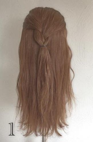 ドレスにピッタリなふわふわまとめ髪♪ロープ編みで作る華やかセルフアレンジ1