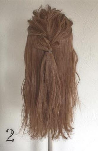 ドレスにピッタリなふわふわまとめ髪♪ロープ編みで作る華やかセルフアレンジ2