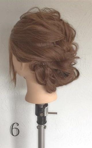 ドレスにピッタリなふわふわまとめ髪♪ロープ編みで作る華やかセルフアレンジ6