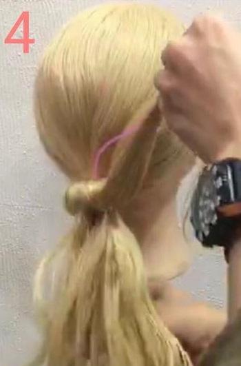 「髪の毛の量が少ない・・・」という方におすすめ☆上品さが魅力のギブソンタックアレンジ4