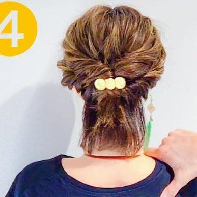 こなれ感のあるスタイルに☆髪が短くてもできちゃう、ねじりアレンジでつくるハーフアップアレンジtop