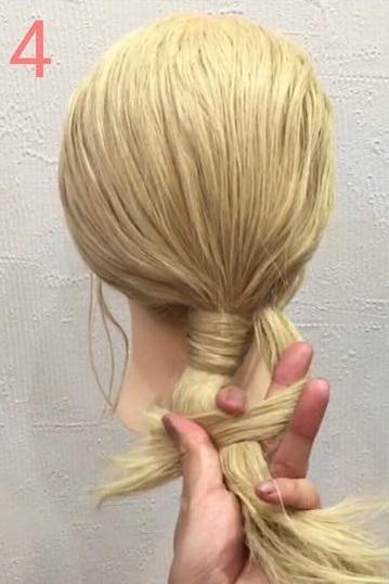 海外女子に人気のモードヘア♪ノットヘアーアレンジ4