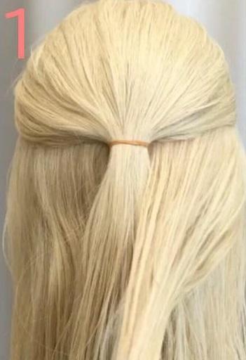 とことん目立ちたい!というときにオススメ♡自分の髪でリボンができちゃう、キュートアレンジ1