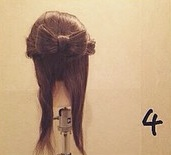 ヘアアクセがなくても華やかさ満点◎自分の髪で作るビッグリボン×編みおろしアレンジ4