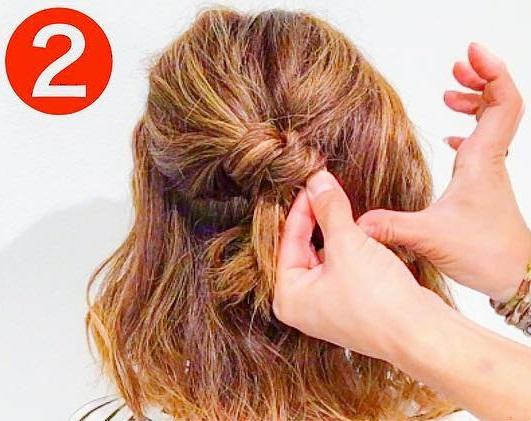 どんな髪質でもできちゃう◎あっというまにおしゃれになる、ハーフアップアレンジ2