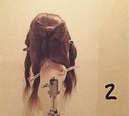 ヘアアクセがなくても華やかさ満点◎自分の髪で作るビッグリボン×編みおろしアレンジ2