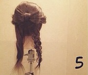 ヘアアクセがなくても華やかさ満点◎自分の髪で作るビッグリボン×編みおろしアレンジ5