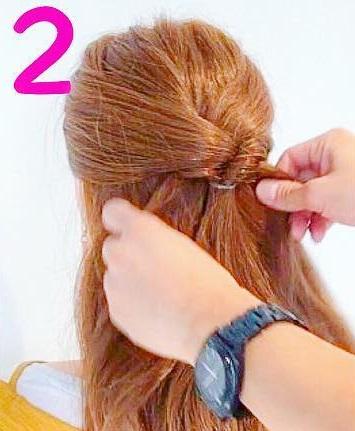髪を巻かなくてもできるのが魅力的◎自分で出来ちゃうお呼ばれアレンジ2