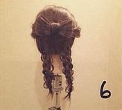 ヘアアクセがなくても華やかさ満点◎自分の髪で作るビッグリボン×編みおろしアレンジ6