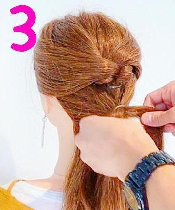 髪を巻かなくてもできるのが魅力的◎自分で出来ちゃうお呼ばれアレンジ3