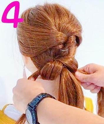 髪を巻かなくてもできるのが魅力的◎自分で出来ちゃうお呼ばれアレンジ4