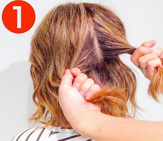 どんな髪質でもできちゃう◎あっというまにおしゃれになる、ハーフアップアレンジ1
