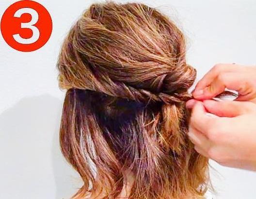 どんな髪質でもできちゃう◎あっというまにおしゃれになる、ハーフアップアレンジ3