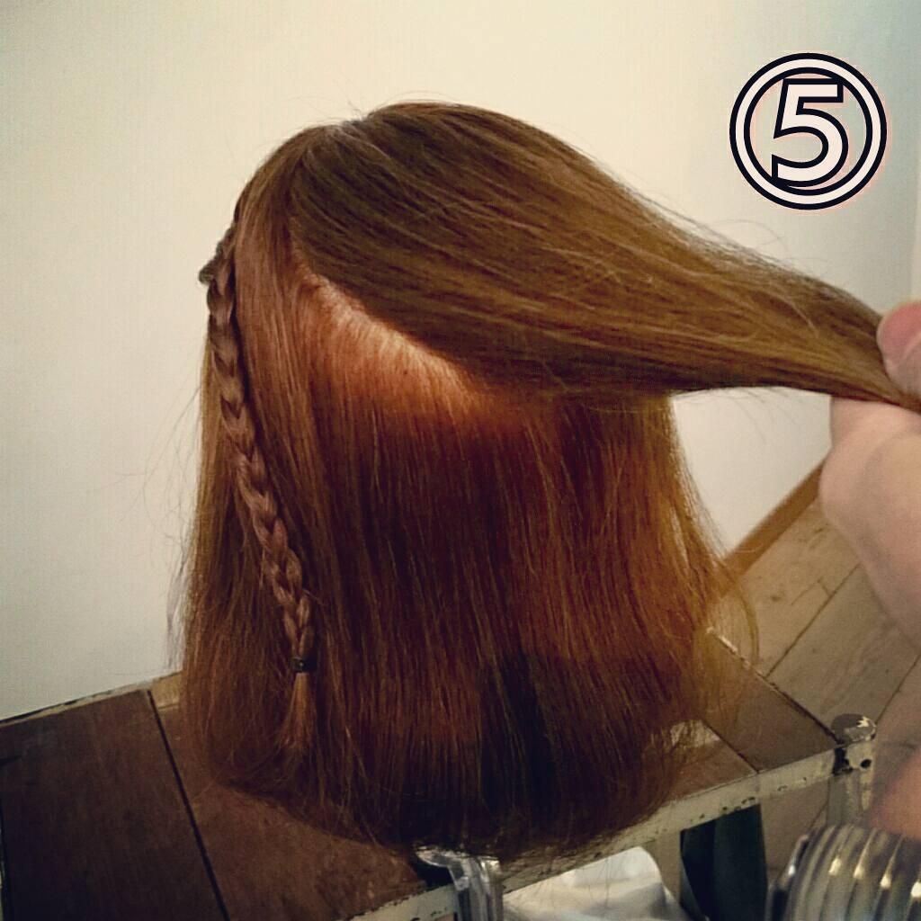 前髪で印象は変わる☆前髪が長めの方におすすめの、編み込み×三つ編みでつくる前髪アレンジ5