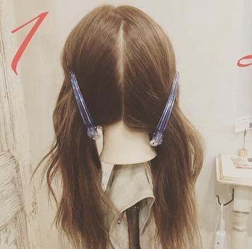 ロングヘアもすっきりまとまる◎簡単三つ編み1