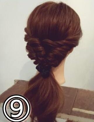「髪の毛の量が多い…」という方におすすめ☆素敵な後ろ姿になるポニーテールアレンジtop