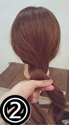 適度に緩いがイマっぽい♡ロープ編みでつくるシンプルシニヨン2