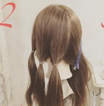 ロングヘアもすっきりまとまる◎簡単三つ編み2