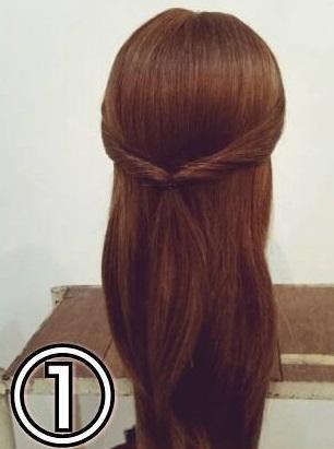 「髪の毛の量が多い…」という方におすすめ☆素敵な後ろ姿になるポニーテールアレンジ1