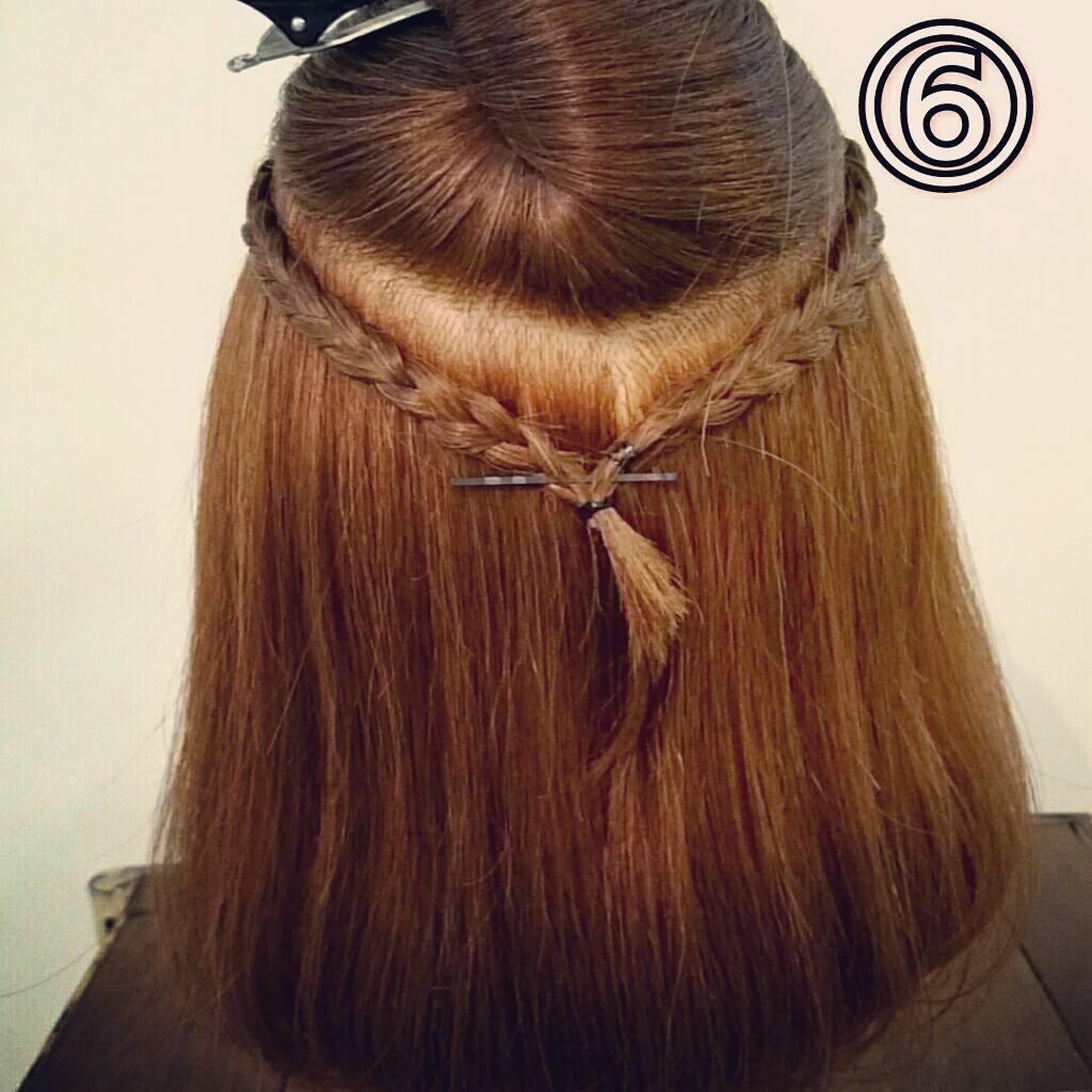 前髪で印象は変わる☆前髪が長めの方におすすめの、編み込み×三つ編みでつくる前髪アレンジ6