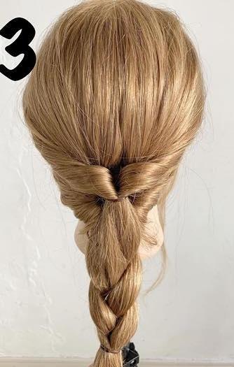 ちょっとしたお出かけに◎後れ毛がある大人ラフなヘアアレンジ3