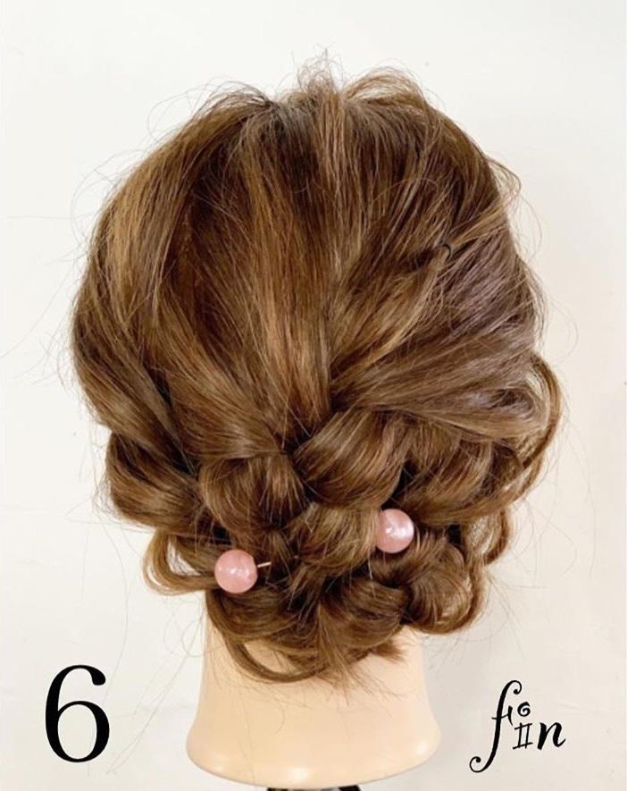 上品に決まる☆結婚式でも使えるまとめ髪アレンジfin