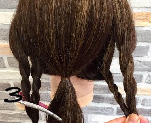 簡単!時短!ロープ編みで出来ちゃう後ろから見ても可愛いローポニーテール♡3