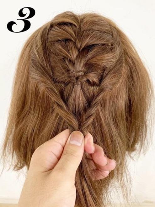 たまには「巻き髪だけスタイリングおやすみday」を◎ボブさんにぴったりの編み込み×ハーフアップアレンジ3
