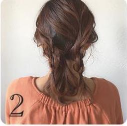 どんなデートにも使える♡上品で控えめなロープ編みヘアアレンジ2