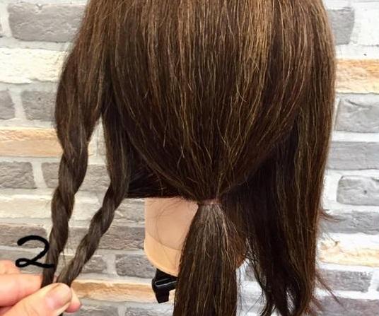 簡単!時短!ロープ編みで出来ちゃう後ろから見ても可愛いローポニーテール♡2
