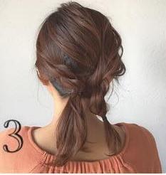 どんなデートにも使える♡上品で控えめなロープ編みヘアアレンジ3
