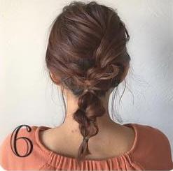 どんなデートにも使える♡上品で控えめなロープ編みヘアアレンジ6