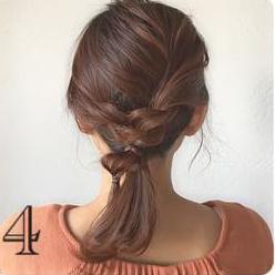 どんなデートにも使える♡上品で控えめなロープ編みヘアアレンジ4