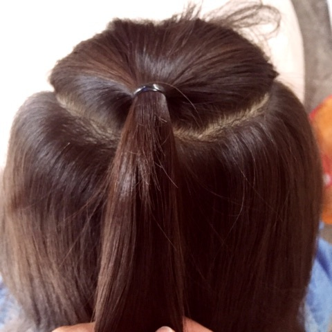 子供のヘアアレンジにぴったり♪アクティブでゴージャスな三つ編み×くるりんぱアレンジ☆1