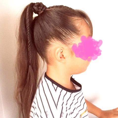 スポーツの秋に☆編み込み×フィッシュボーンでつくる、子どもが喜ぶポニーテールアレンジtop