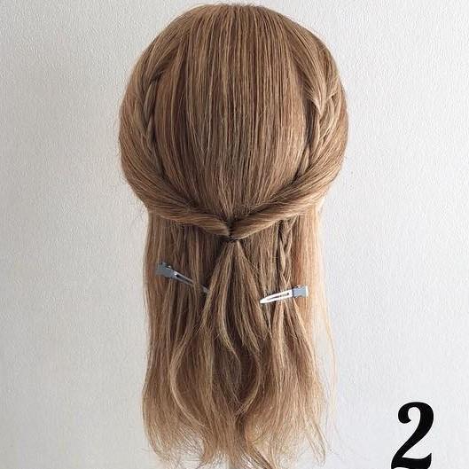 ひょっこり三つ編みがアクセント☆おしゃれポニーのアレンジプロセス!2