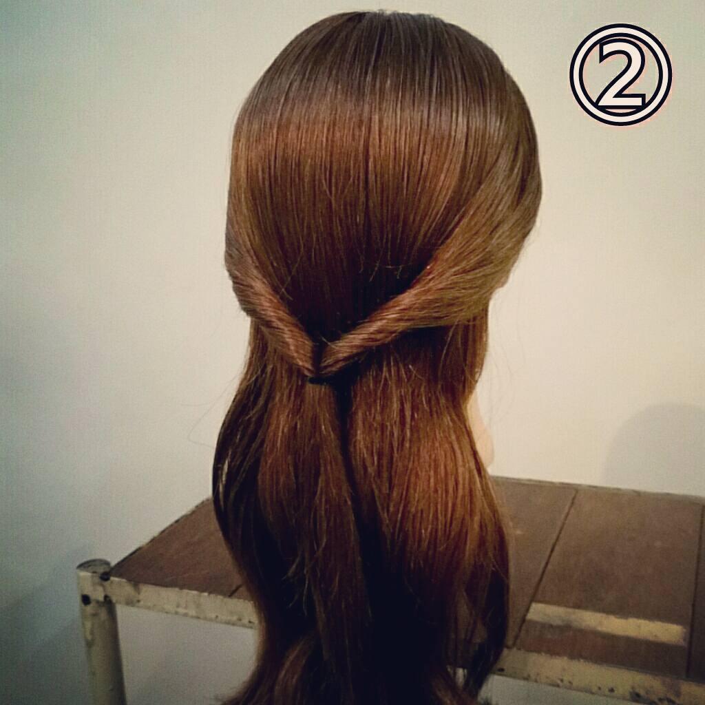 くるりんぱで簡単にできる万能アレンジ!華やかまとめ髪ギブソンタックアレンジ♡2