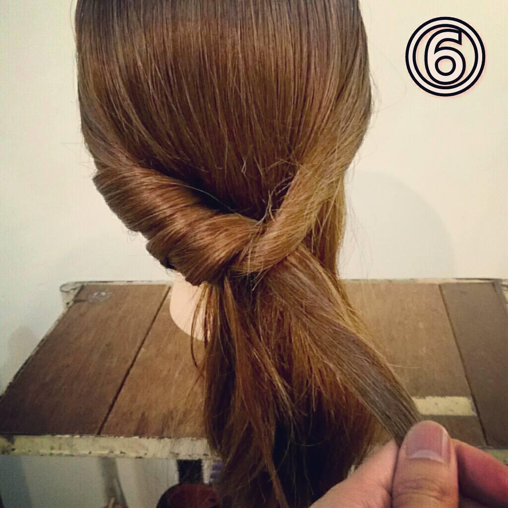 くるりんぱで簡単にできる万能アレンジ!華やかまとめ髪ギブソンタックアレンジ♡6