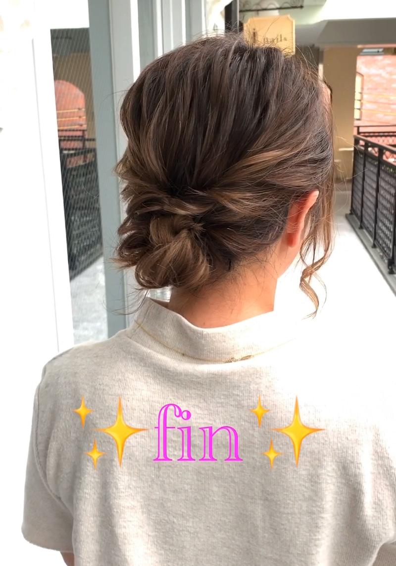 秋冬のタートルネックコーデがもっと素敵に♪ミディアムヘアでもできる、首元すっきりまとめ髪アレンジtop