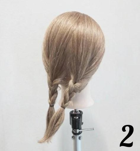 5分で簡単こなれ感♪綺麗め三つ編みローポニーアレンジ☆2